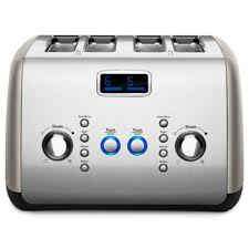 Best Four Slice Toasters Kitchenaidkmt423ob 4 Slice Toaster With One Touch Lift Lower And