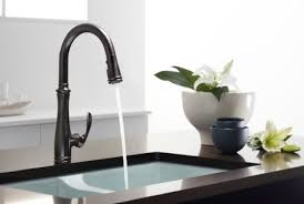 kohler rubbed bronze kitchen faucet sumptuous kohler faucets in kitchen eclectic with rubbed