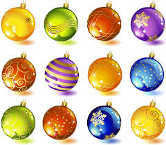 tree glass ornaments vector free stock vector