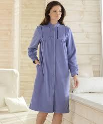 robe de chambre en molleton polaire 105 cm vison femme damart