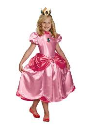 Girls Halloween Costumes Kids Amazon Nintendo Super Mario Brothers Princess Peach Deluxe
