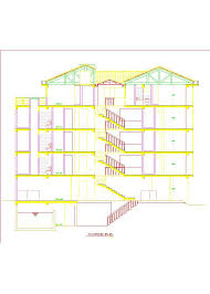 lodging hotel lodge accommodation 2d dwg plan for autocad