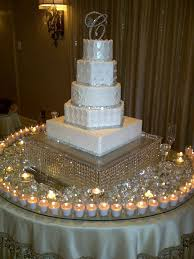 wedding cake table wedding cake with decorations doulacindy