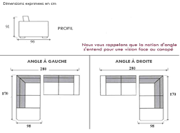 dimensions canapé dimension canapé angle dimension canape angle canape angle