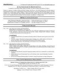 Sample Resume For Hr Generalist by Hr Specialist Resume Sample Resume Of Human Resource Manager