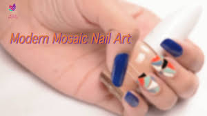 modern mosaic nail art nail designs step by step youtube