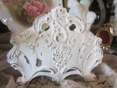 Shabby Chic Napkin Holder by Shabby Cottage Green Pressed Back Chair Pink By Rosesnmygarden