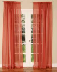 Terracotta Blackout Curtains Terracotta Slot Top Voile Curtain Panel Uk Delivery Terrys Fabrics