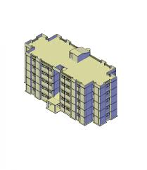 4 storey commercial building complete plan floor architecture fig