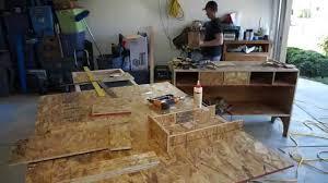 Tool Box Top Hutch 50 Osb Plywood Tool Hutch Cabinet Youtube