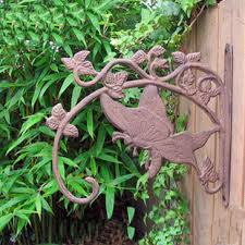 vintage wall mount cast iron painted mandarin duck key and mail