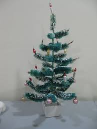 vintage antique bottle brush chenille christmas tree ornaments