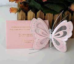 butterfly wedding invitations creative handmade pink butterfly wedding invitations with
