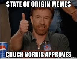 State Of Origin Memes - state of origin memes chuck norris approves chuck norris approves