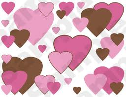 pink brown hearts wallpaper border wall decals for baby