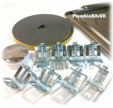 Stainless Steel Kitchen Sink Fixing Pack Kit With Adjustable Clips - Kitchen sink clips