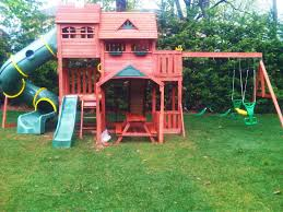swing sets for small backyard amys office