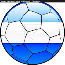 Flag El Salvador El Salvador Flag On Soccer Ball Vector Yayimages Com