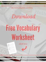 learn english words with vocabulary worksheets how to learn english