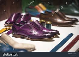 fancy colorful shoes men clothing store stock photo 591282806