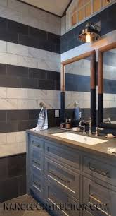 bathroom ideas for boy and i the height of the shower curtains and how they used two