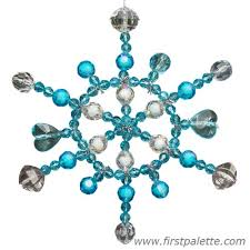 beaded snowflake craft crafts firstpalette