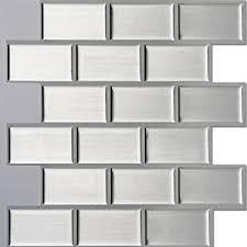 Amazoncom Ecoart Peel And Stick SelfAdhesive Wall Tile For - Self adhesive tiles for backsplash
