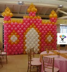 balloon decoration for birthday at home princess birthday party balloon decoration ideas archives credit