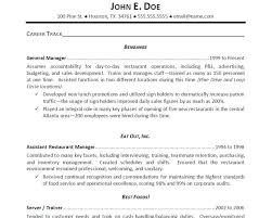 Resume Samples Restaurant Manager by Resume Wizard Template