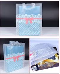 38x43cm large clear plastic gift bag with handles large striped