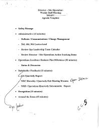 download weekly staff meeting draft agenda for free tidyform