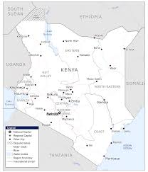 Kenya Map Africa by Kenya Map Blank Political Kenya Map With Cities