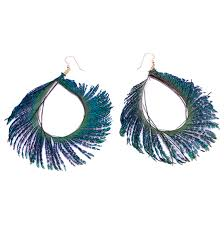 peacock feather earrings peacock feather hoop earrings soundchick accessories