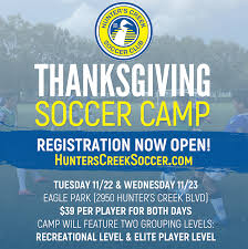 hcsc announce thanksgiving c orlando youth soccer