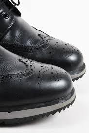 mens motorcycle sneakers mens prada sport black gray white leather platform brogue oxford