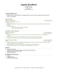 sample high student resume for college resume example