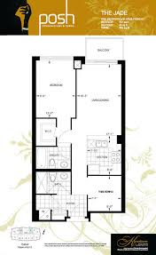 posh condos thornhill vaughan 1 bedroom plus den floor plan jade