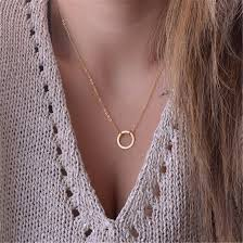 short charm necklace images Fresh teen jewelry fashion circle choker necklace short chain jpg
