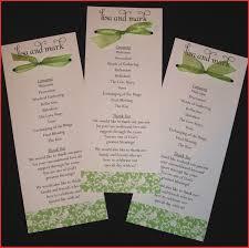 unique wedding program templates wedding program ideas personel profile