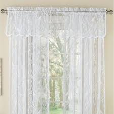 troubadour birds lace tier window treatment