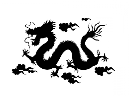 best silhouette of chinese dragon cdr