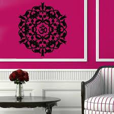 Om Wall Decal Mandala Vinyl by Wall Decals Yoga Indian Mandala Pattern Vinyl Sticker Murals Wall