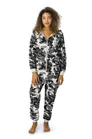 camouflage jumpsuit womens grey camo onesie arthur george