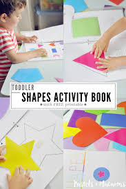 Printable Activity Book Toddler Shapes Activity Book