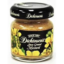 ground mustard dickinson s ground mustard jar travel size miniature