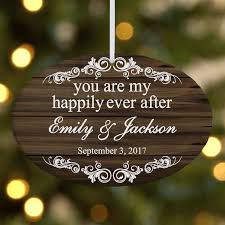 personalized you are my happily ever after christmas ornament