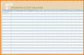 Guest List Spreadsheet Template Wedding Guest List Printable Template Printable Rental Agreements