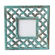 bulk buy 4x6 inches green picture frame in wood with intricate