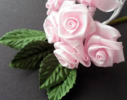 silk roses pale pink small silk roses and leaves pack 6 ebay