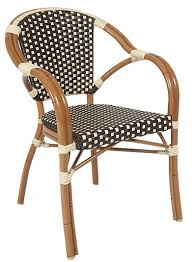 Aluminum Bistro Chairs Bistro Weave Arm Chair